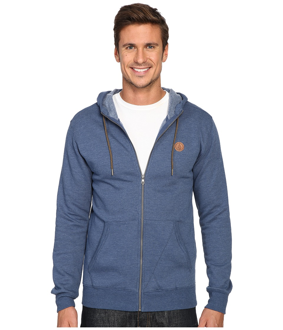 Volcom - Single Stone Premium Zip (Smokey Blue Heather) Men's Clothing