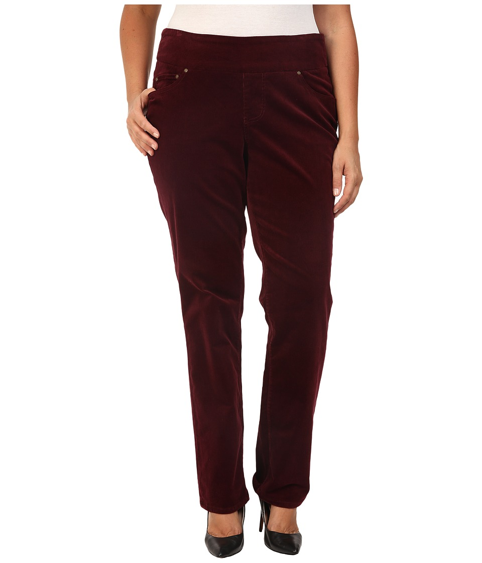 Jag Jeans Plus Size Plus Size Peri Pull-On Straight in 18 Wale Corduroy (Elderberry) Women