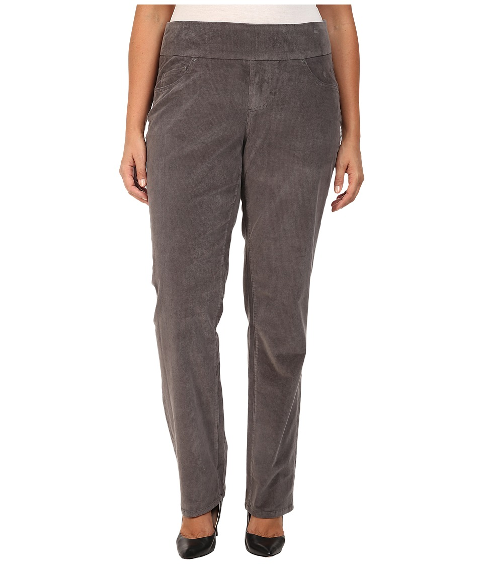Jag Jeans Plus Size - Plus Size Peri Pull-On Straight in 18 Wale Corduroy (Smokey Grey) Women's Clothing