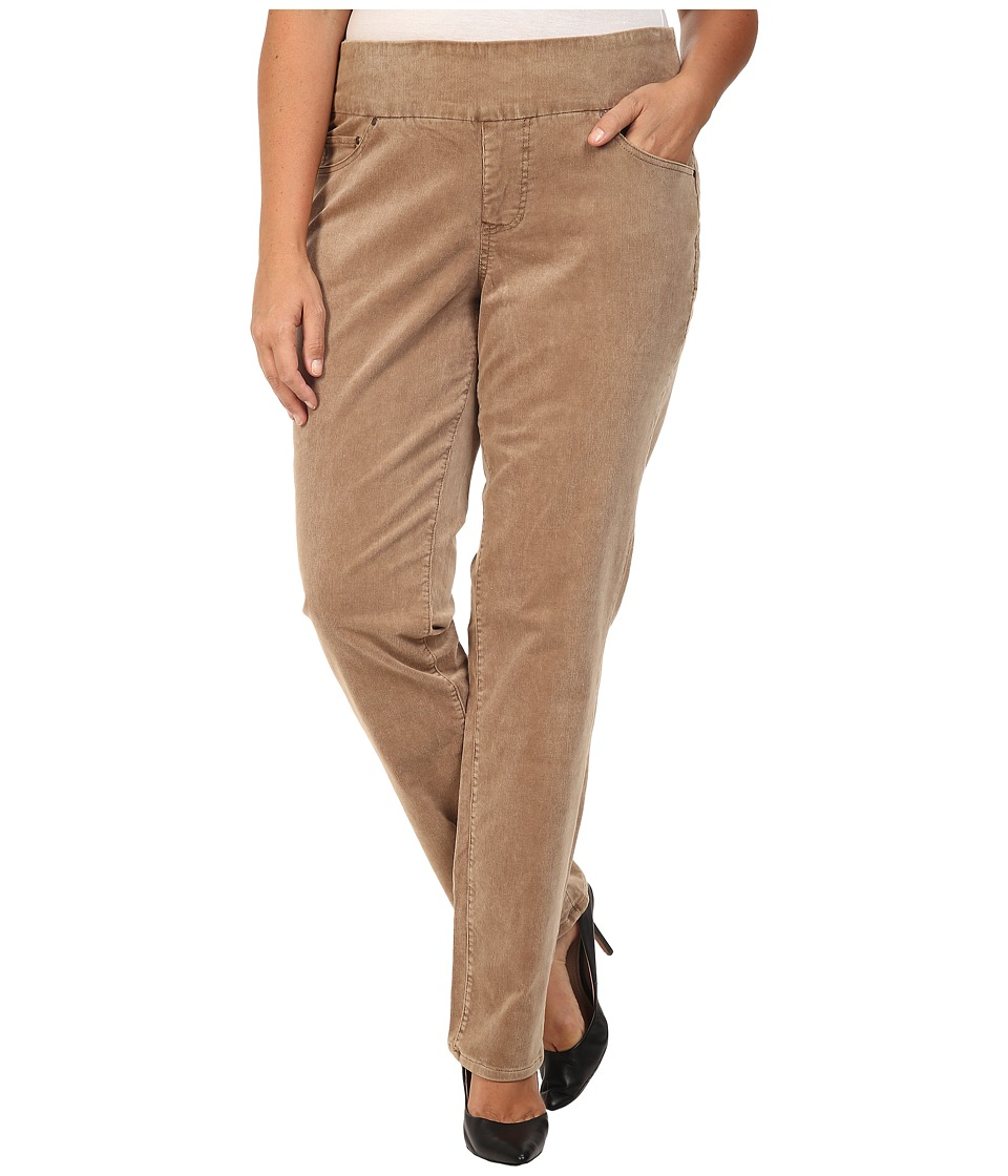 Jag Jeans Plus Size - Plus Size Peri Pull-On Straight in 18 Wale Corduroy (Toffee) Women's Clothing