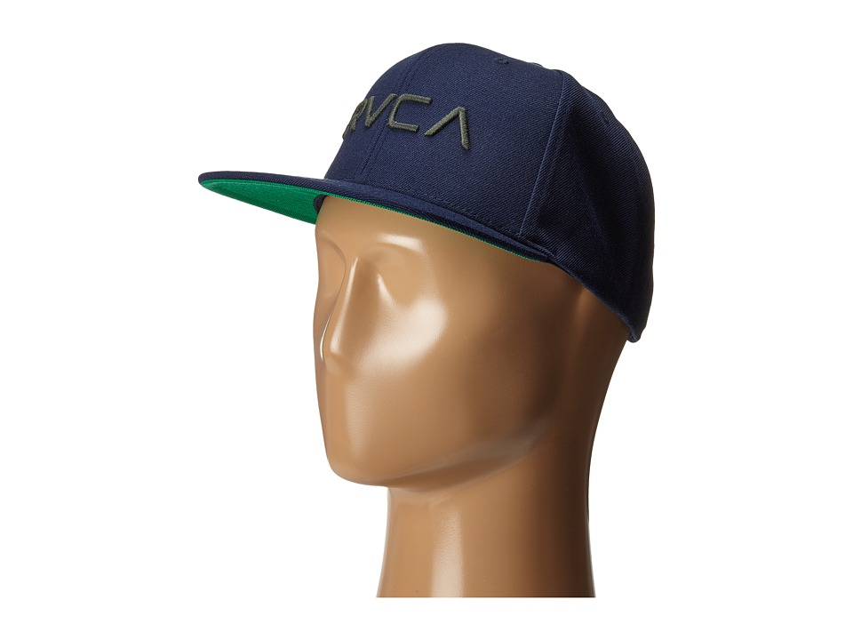 RVCA - Twill Snapback (Dark Navy) Baseball Caps