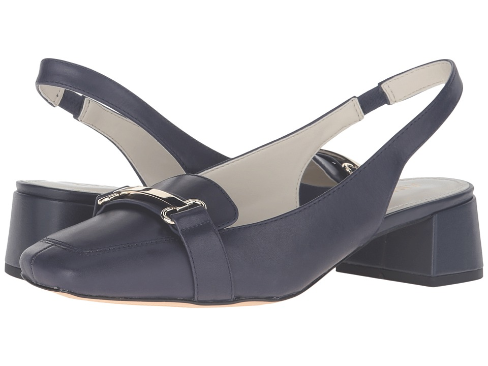 Anne Klein Abbie (Navy Leather) Women