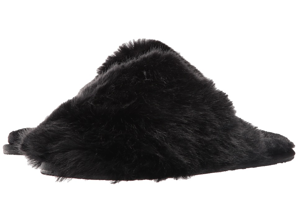 Ted Baker - Hawleth (Black Faux Fur) Women's Slippers