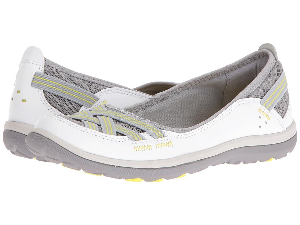 Clarks Aria Pump (White Leather) High Heels