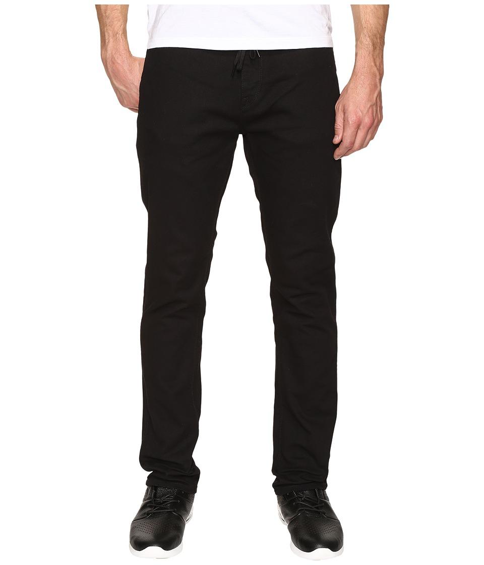 Volcom - VSM Gritter Slim Skate Chino (Black) Men's Clothing