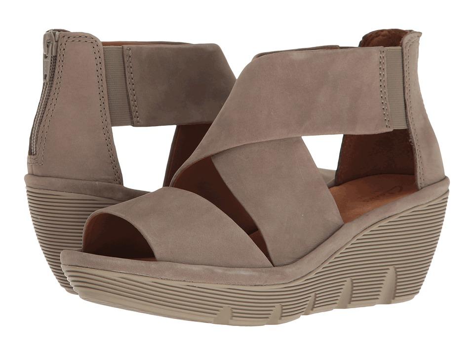 Clarks - Clarene Glamour (Sage Nubuck) Women's Sandals