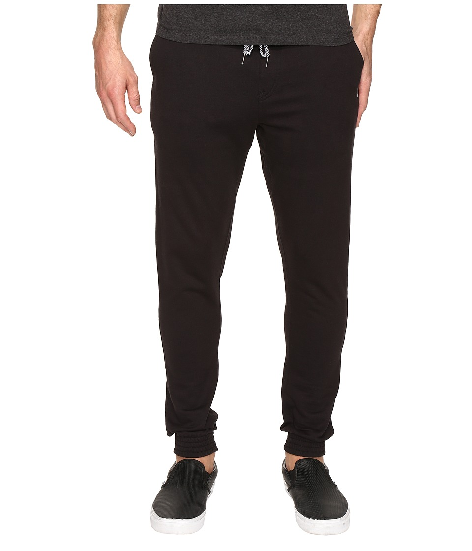 Volcom - Single Stone Fleece Pants (Black) Men's Casual Pants