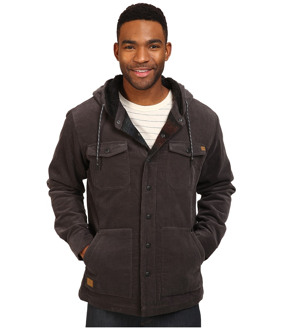 Rip Curl - Dawn Patrol Cord Jacket (Charcoal) Men's Coat