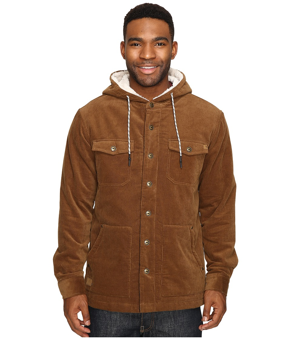 Rip Curl - Dawn Patrol Cord Jacket (Brown) Men's Coat