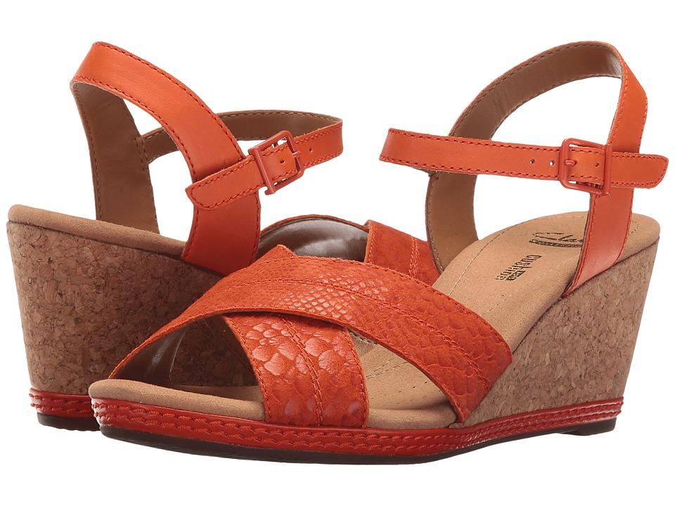 Clarks - Helio Latitude (Orange Leather) Women's Sandals