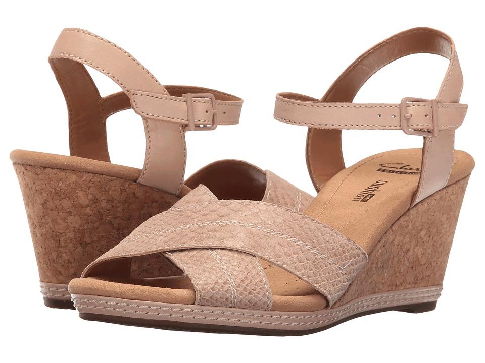 Clarks - Helio Latitude (Nude Leather) Women's Sandals