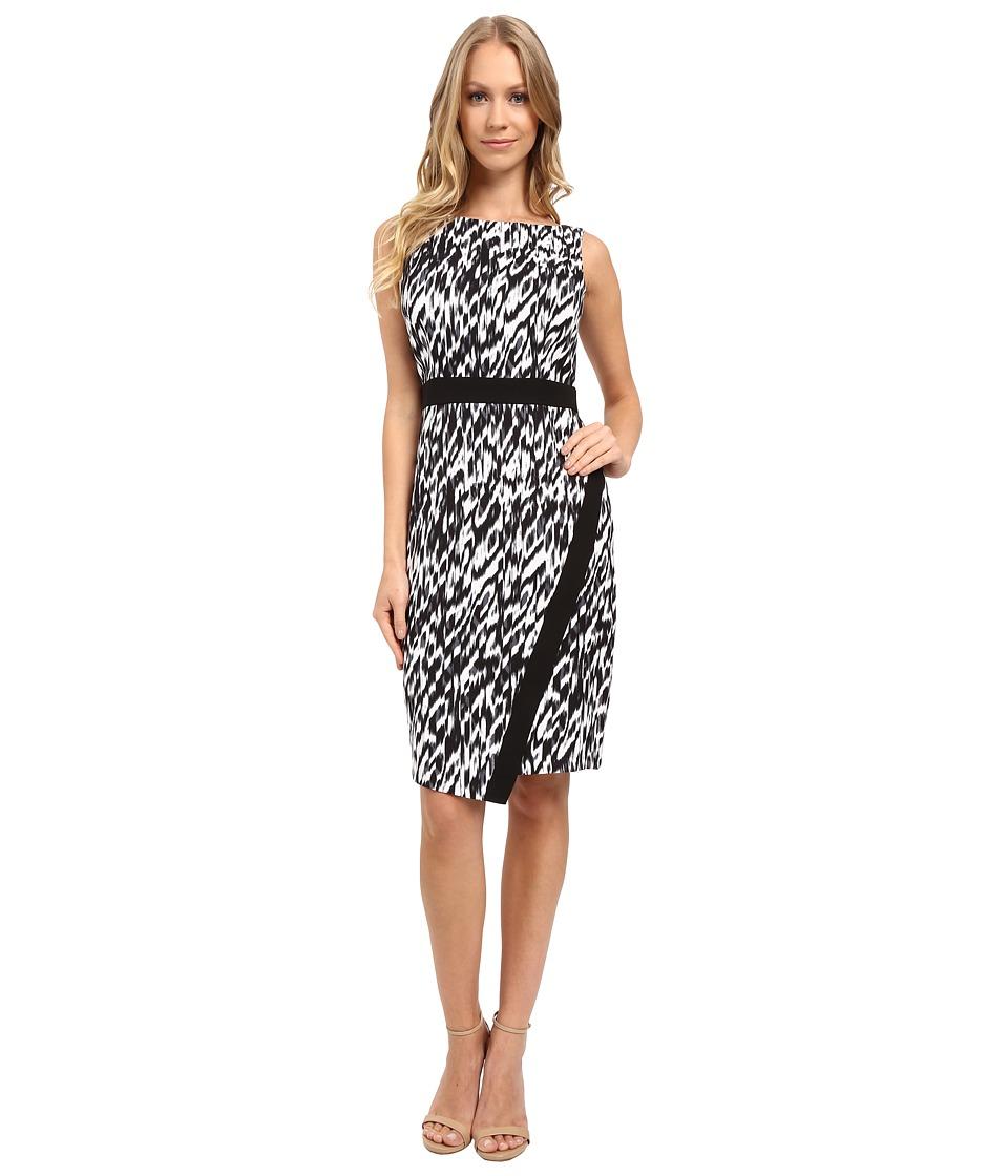 London Times - Global Texture Sleeveless Sheath Dress (Black) Women's Dress