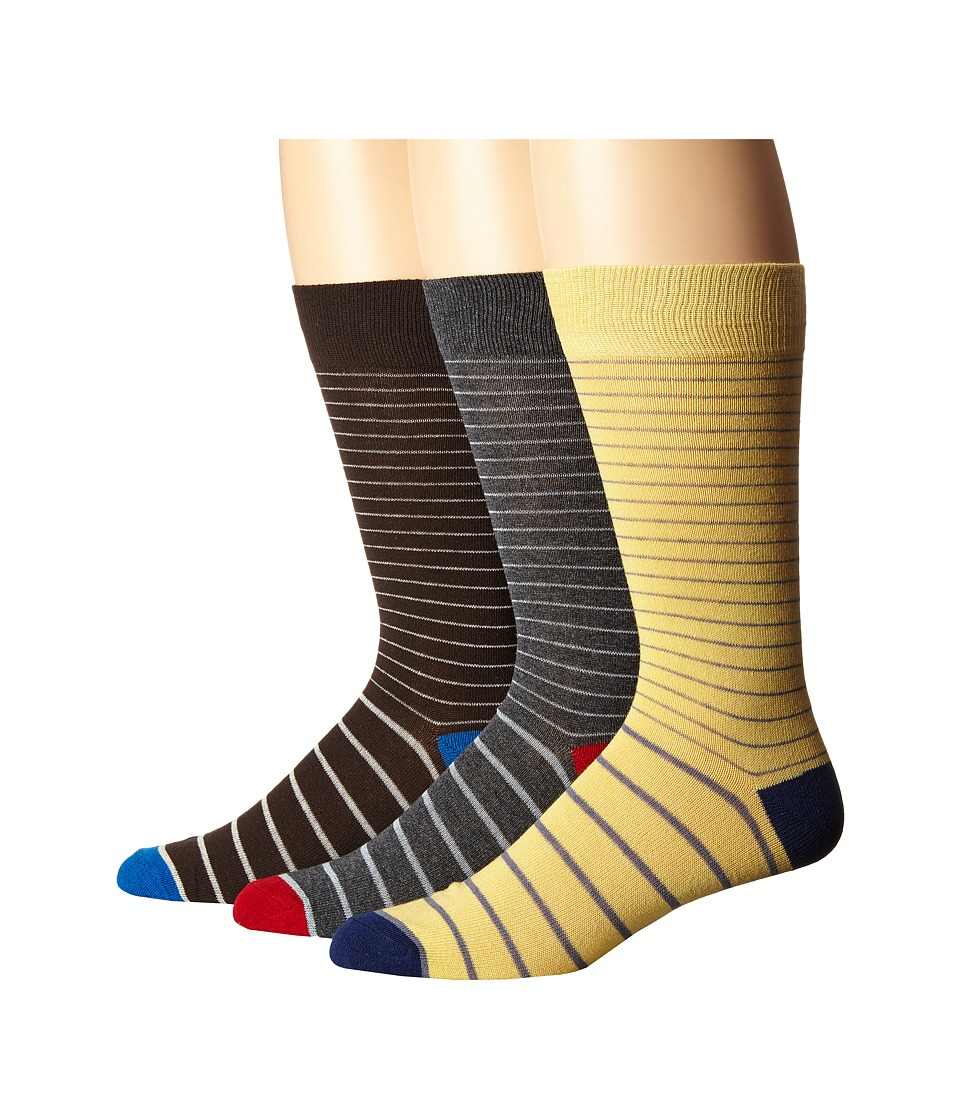 Florsheim - Limited Collection 3-Pack Socks (Multi) Men's Knee High Socks Shoes