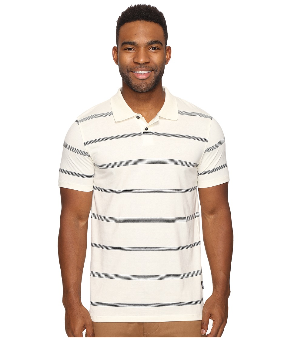 Volcom - Wowzer Stripe Polo (Egg White) Men's Short Sleeve Pullover