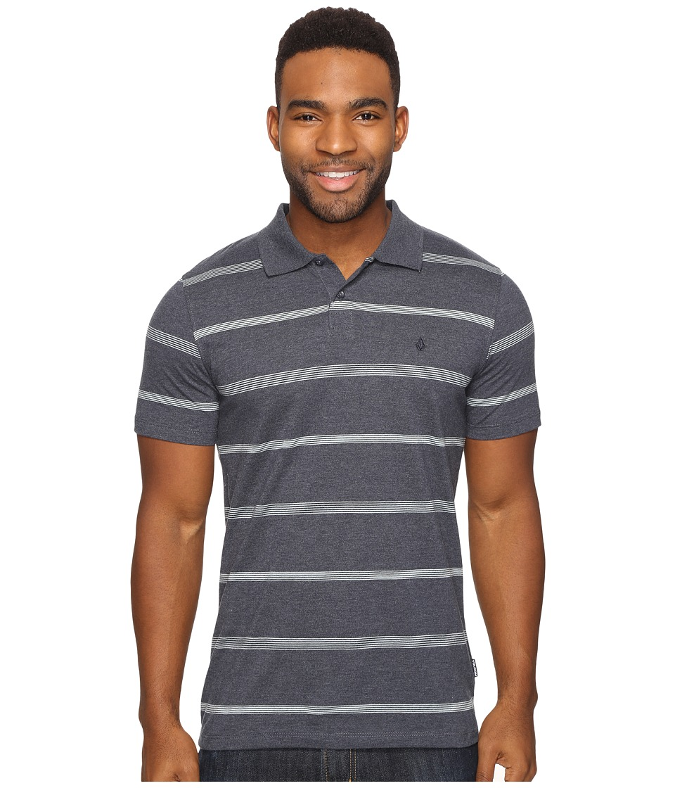 Volcom - Wowzer Stripe Polo (Navy) Men's Short Sleeve Pullover