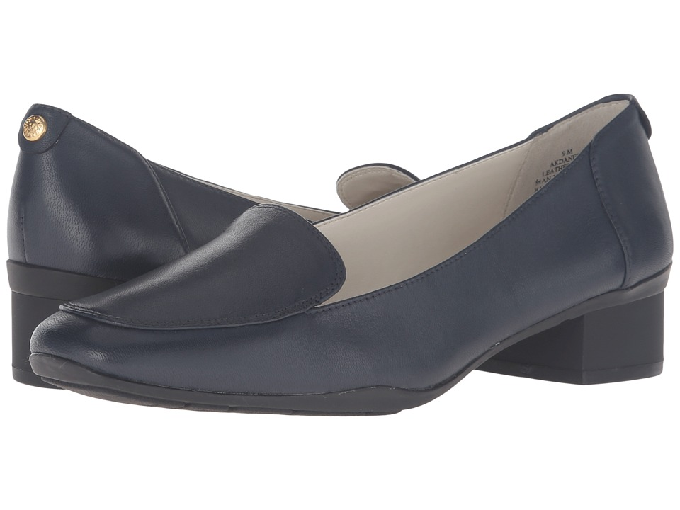 Anne Klein Daneen (Navy Leather) Women
