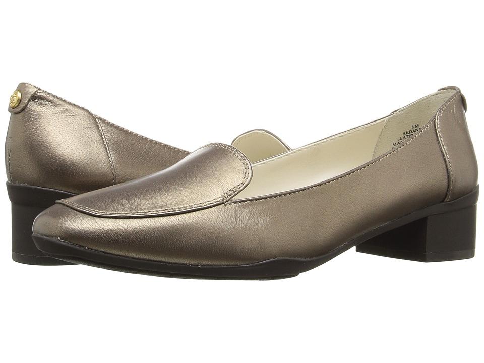 Anne Klein Daneen (Bronze Leather) Women's Shoes. On sale ...