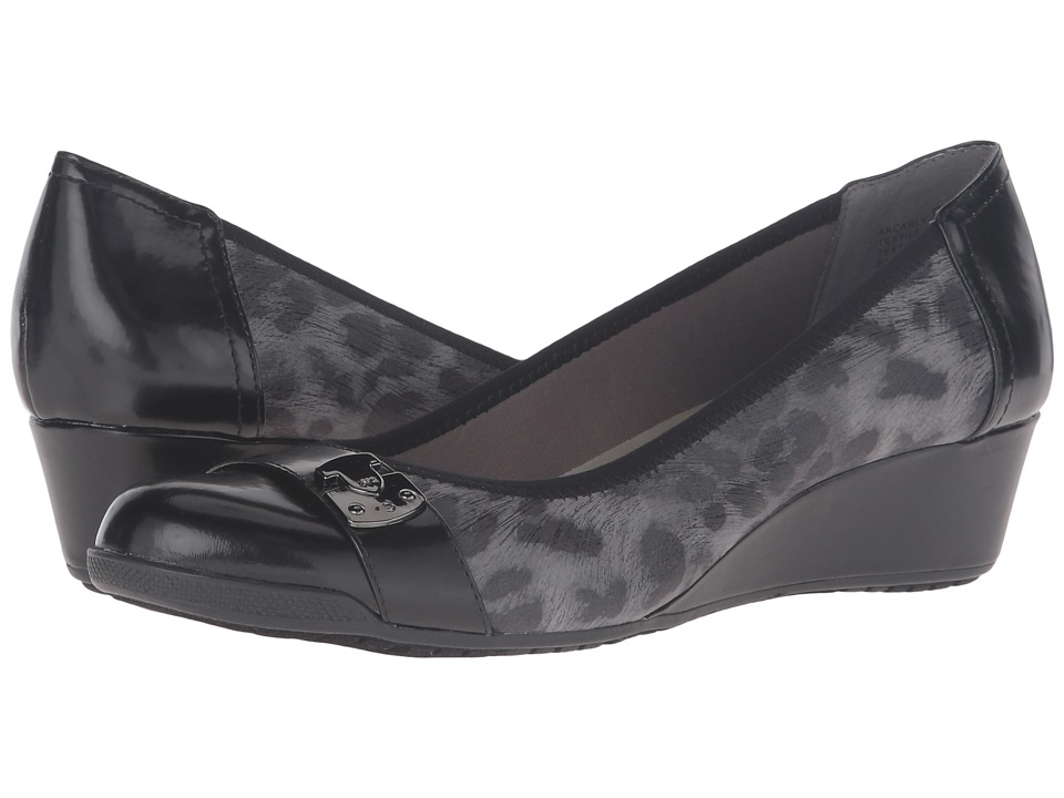 Anne Klein Carly (Dark Grey Multi Fabric) Women