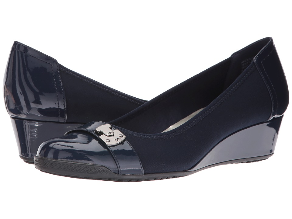 Anne Klein Carly (Navy Multi Fabric) Women