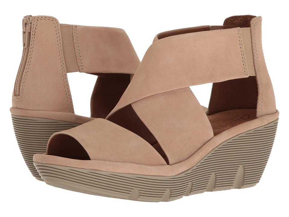 Clarks - Clarene Glamour (Sand Nubuck) Women's Sandals