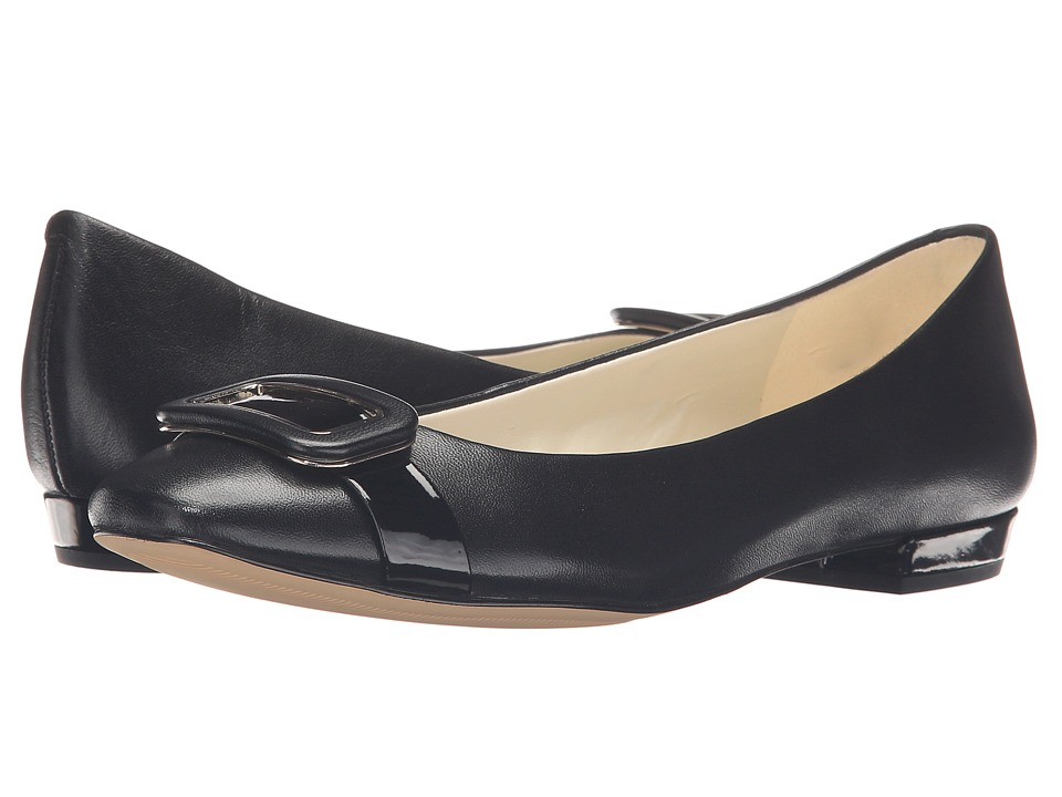 Anne Klein Elonie (Black Leather) Women