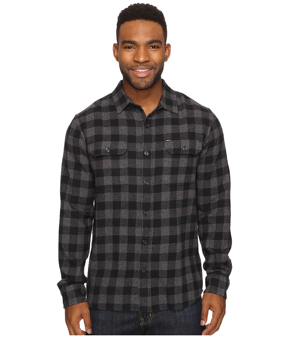 Rip Curl - Kingsford Long Sleeve Flannel (Charcoal) Men's Long Sleeve Button Up