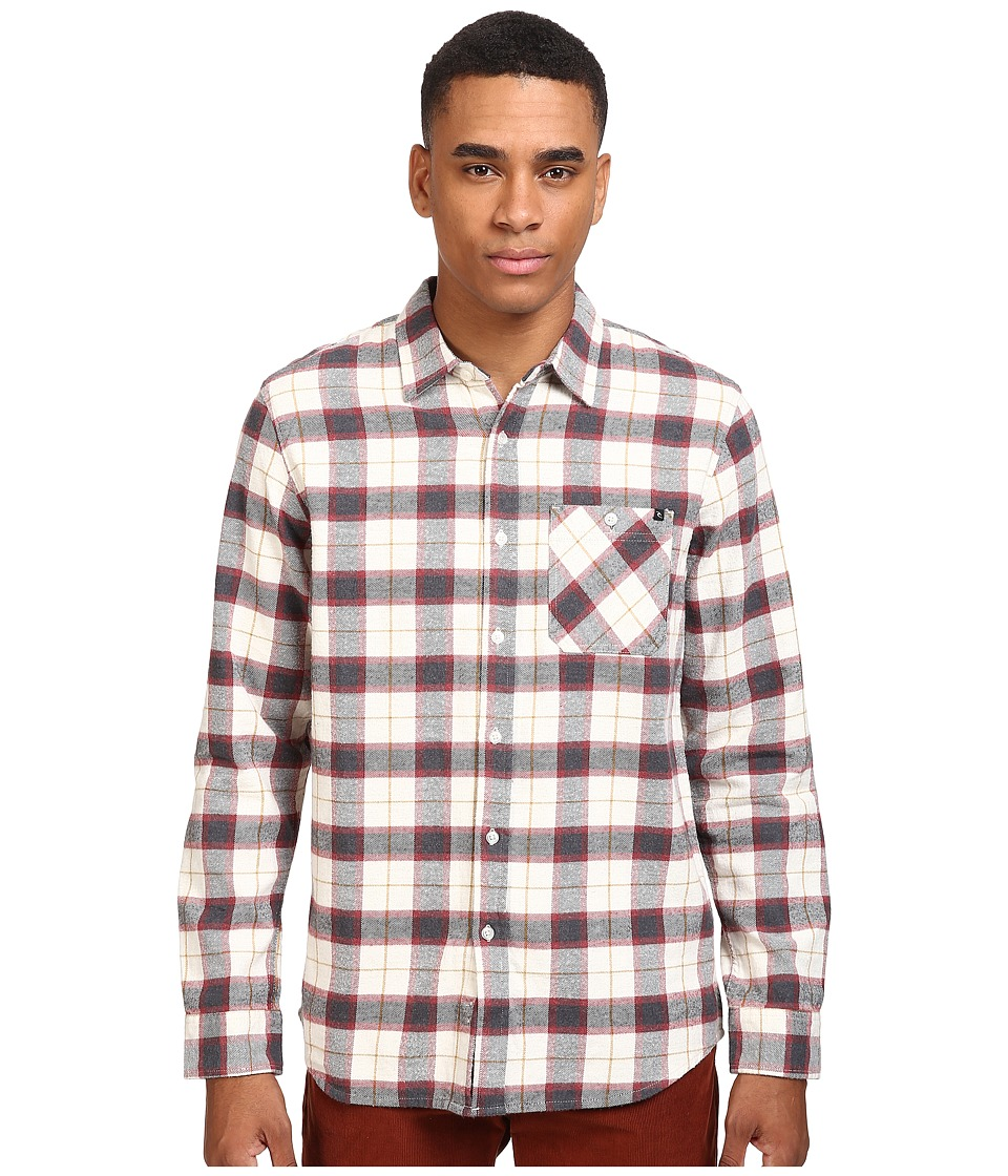 Rip Curl - Blackburn Long Sleeve Flannel (Khaki) Men's Long Sleeve Button Up