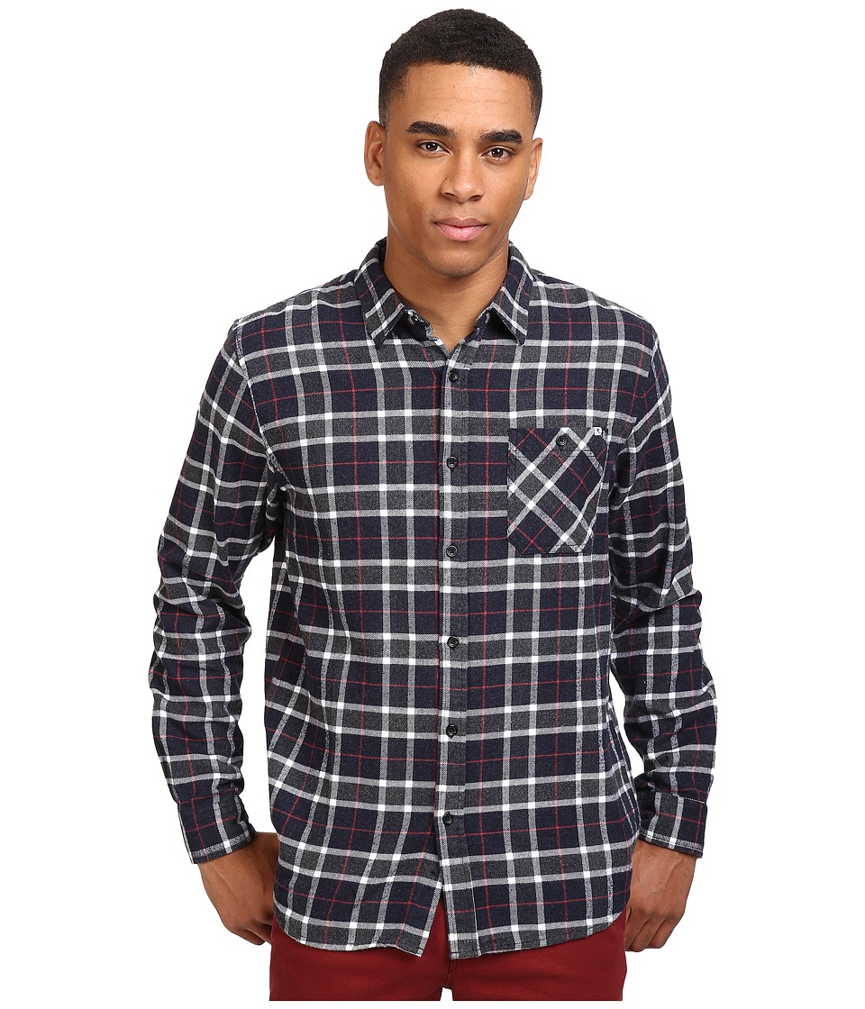 Rip Curl - Blackburn Long Sleeve Flannel (Navy) Men's Long Sleeve Button Up
