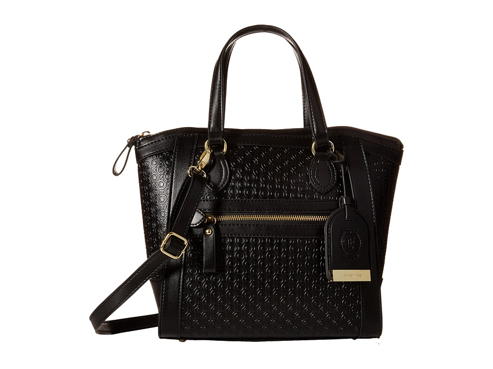 London Fog - Thames Mini Tote (Black Embossed) Tote Handbags