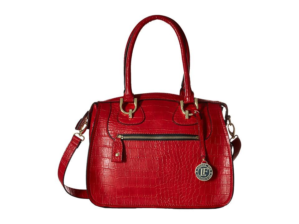London Fog - Knightsbridge Satchel (Ruby) Satchel Handbags