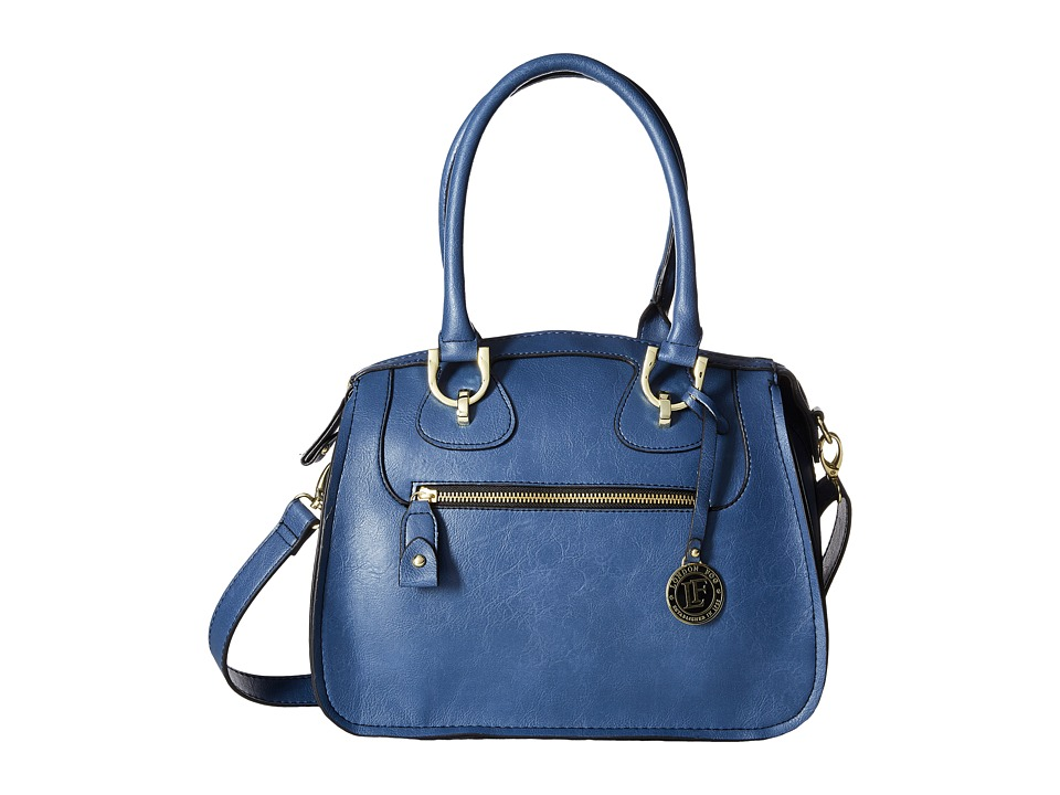 London Fog - Knightsbridge Satchel (Denim) Satchel Handbags
