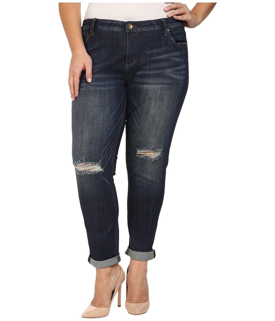 KUT from the Kloth - Plus Size Catherine Slouchy Boyfriend Jeans in Commitment (Commitment) Women's Jeans