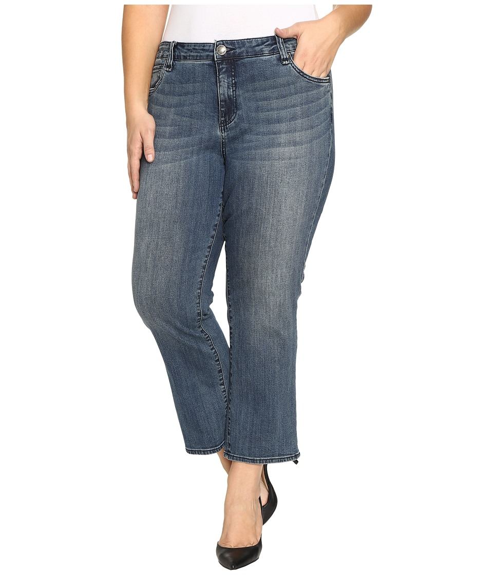 KUT from the Kloth - Plus Size Reese Crop Flare Jeans in Perfection (Perfection) Women's Jeans