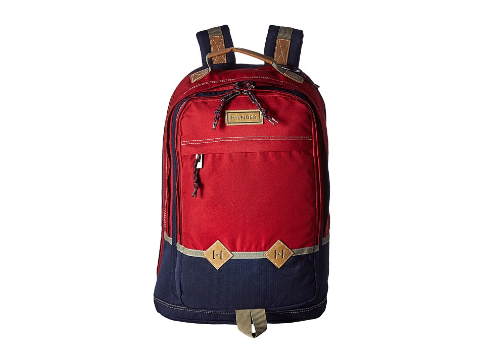 Tommy Hilfiger - Duo Chrome Backpack (Red) Backpack Bags