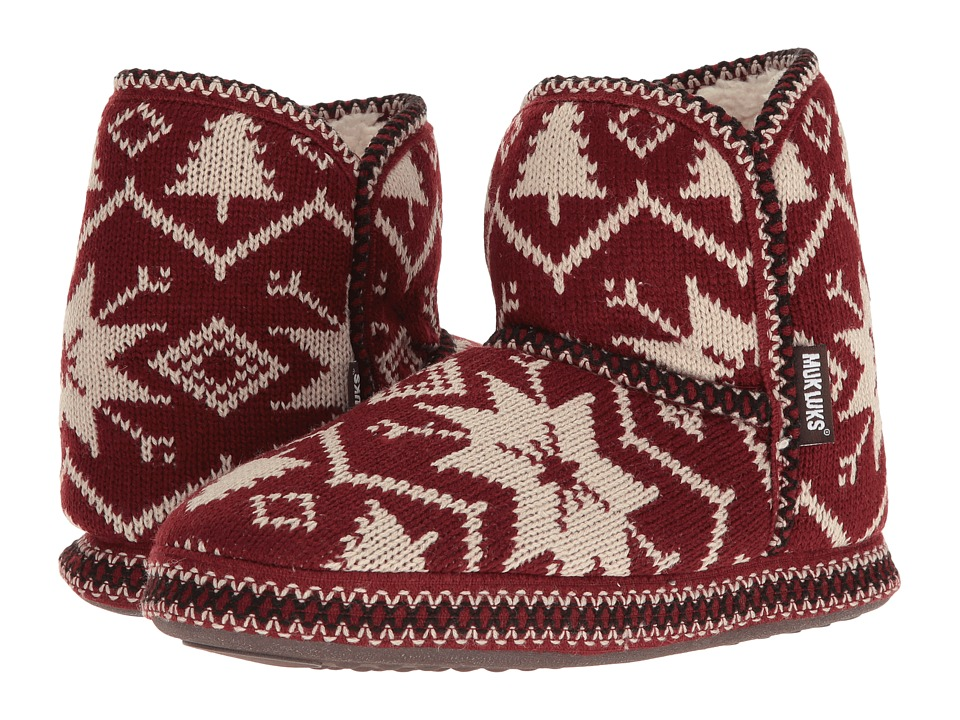 MUK LUKS - Short Boot (Snowflake Nordic) Women's Pull-on Boots