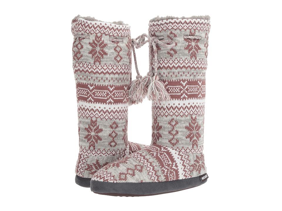 MUK LUKS Tall Grommet Tie Boot (Marled Rustic Lodge) Women