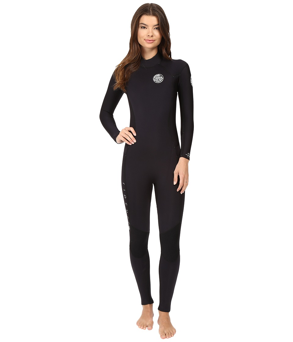 Rip Curl - Dawn Patrol 3/2 GB Back Zip ST (Black) Women's Wetsuits One Piece