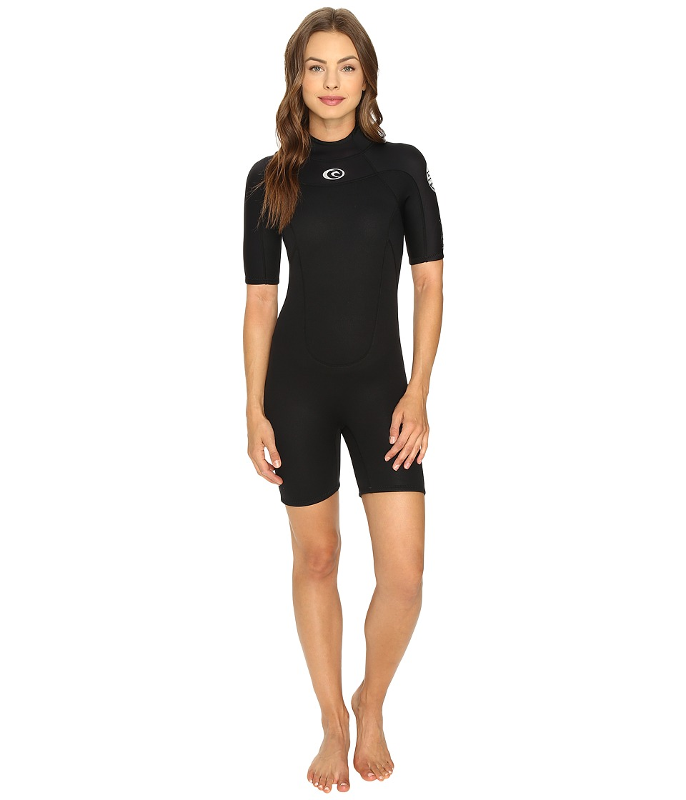 Rip Curl - Freelite Short Sleeve Spring (Black) Women's Wetsuits One Piece