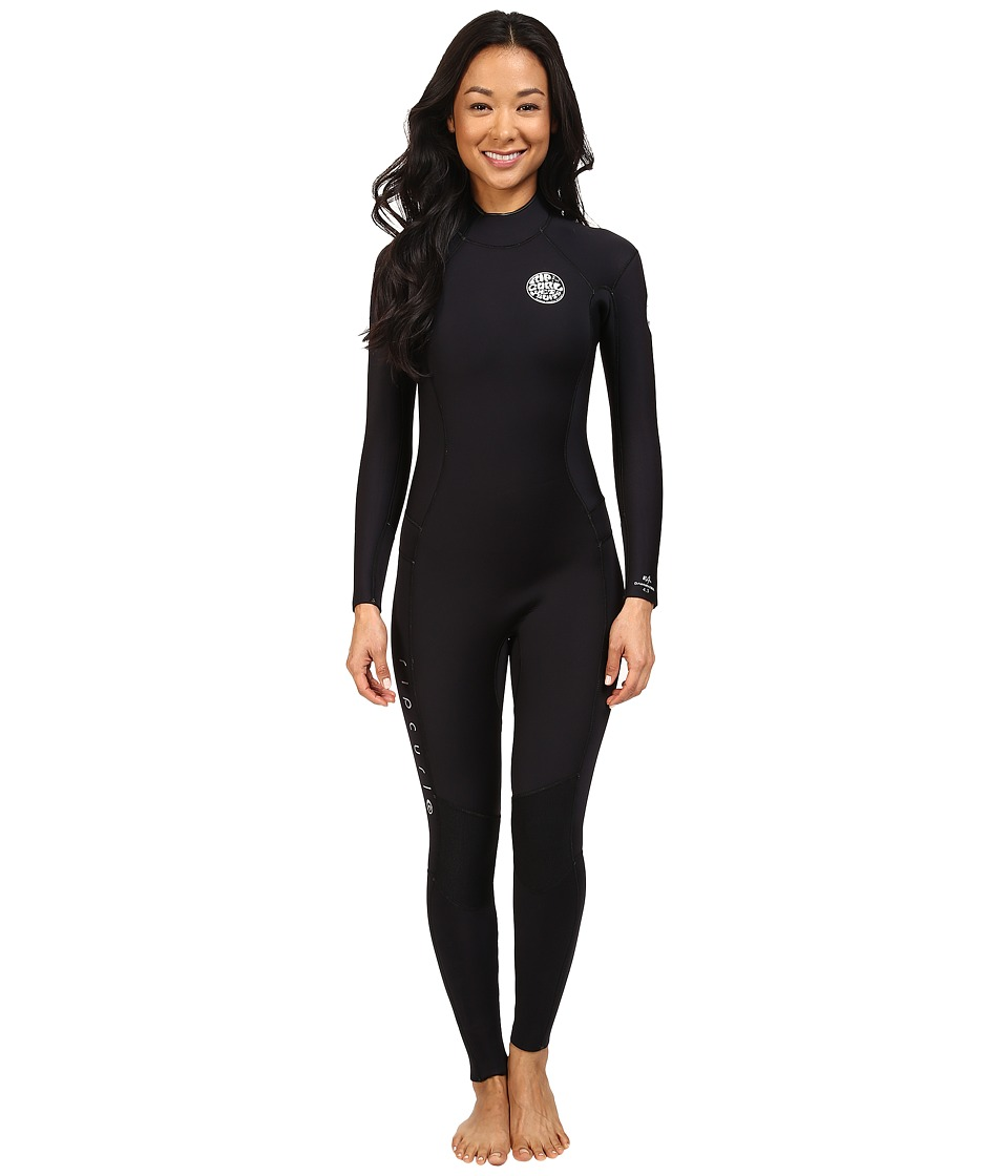 Rip Curl - Dawn Patrol 4/3 GB Back Zip ST (Black) Women's Wetsuits One Piece