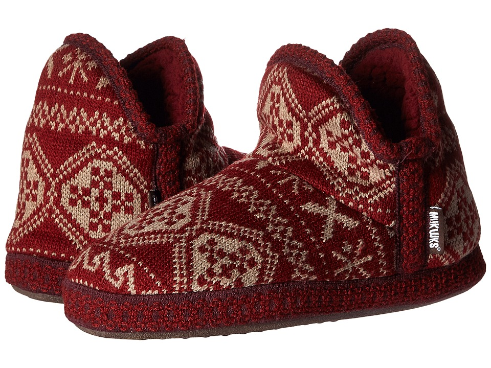 MUK LUKS - Amira Nordic (Fair Isle Ruby) Women's Pull-on Boots