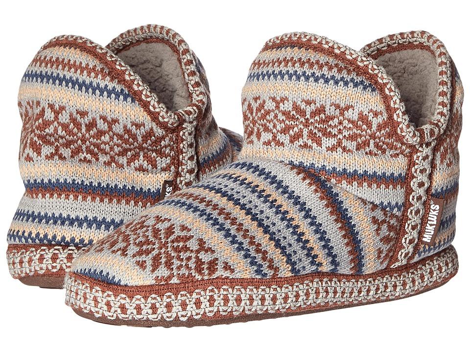 MUK LUKS - Amira Nordic (Snowflake Stitches Cinder) Women's Pull-on Boots