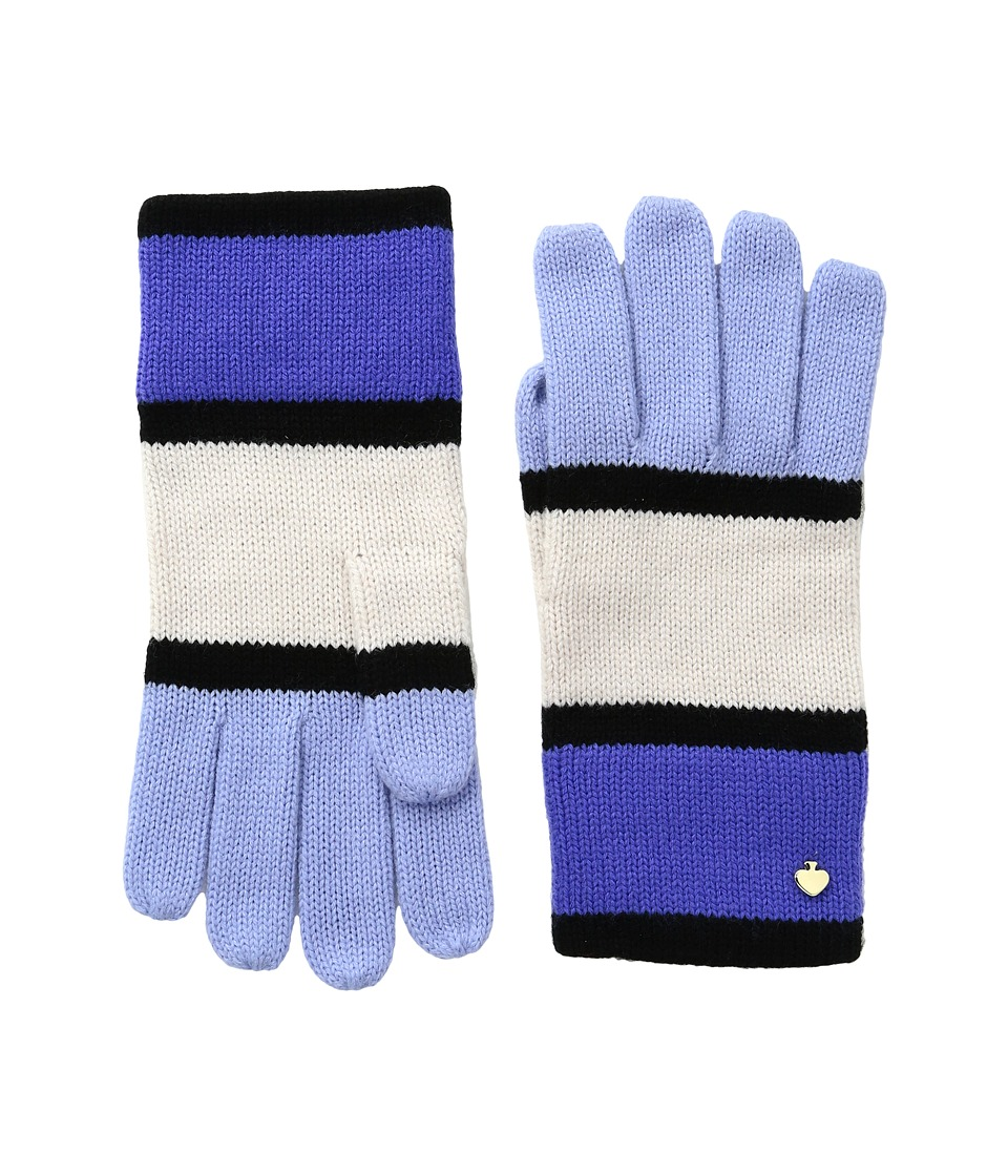 Kate Spade New York - Color Block Gloves (Ensemble Blue) Extreme Cold Weather Gloves
