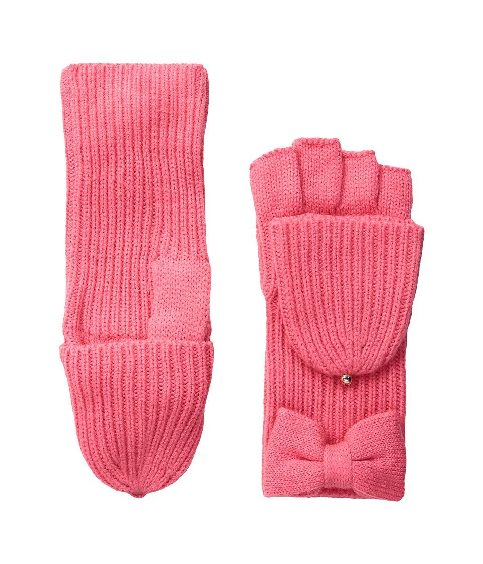 Kate Spade New York - Solid Bow Pop Top (Costume Pink) Extreme Cold Weather Gloves