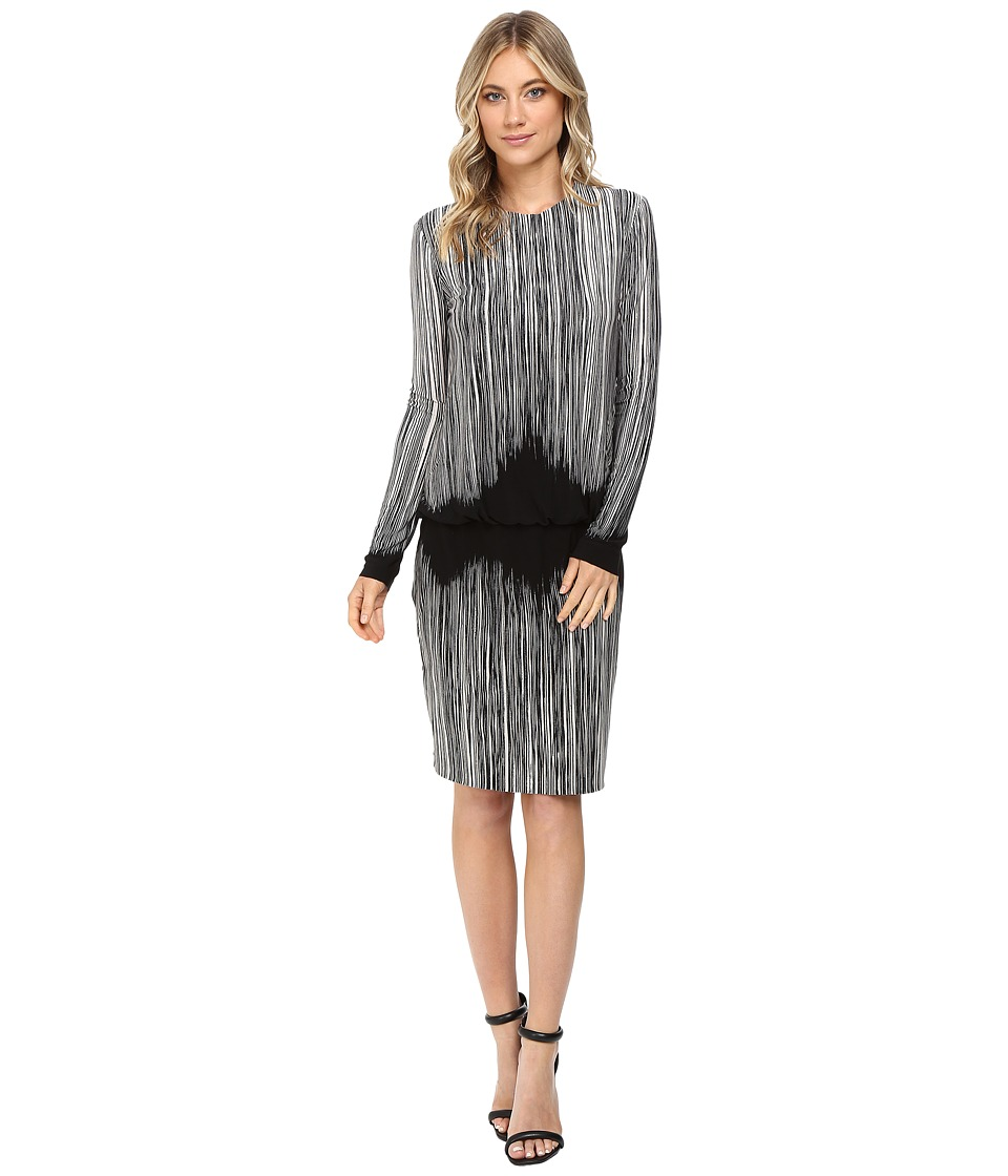 KAMALIKULTURE by Norma Kamali - Long Sleeve Babydoll Dress (Fringe) Women's Dress