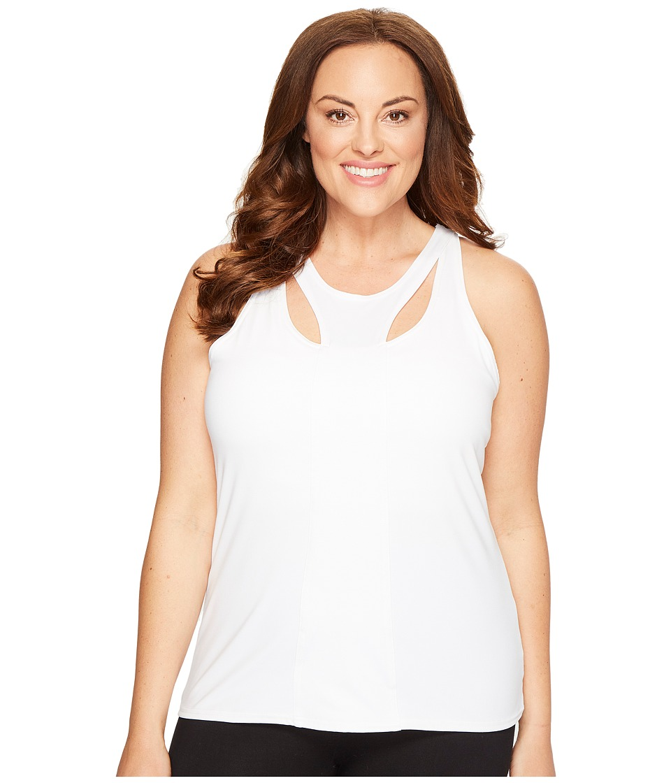 Soybu - Plus Size Warrior Tank Top (White) Women's Sleeveless