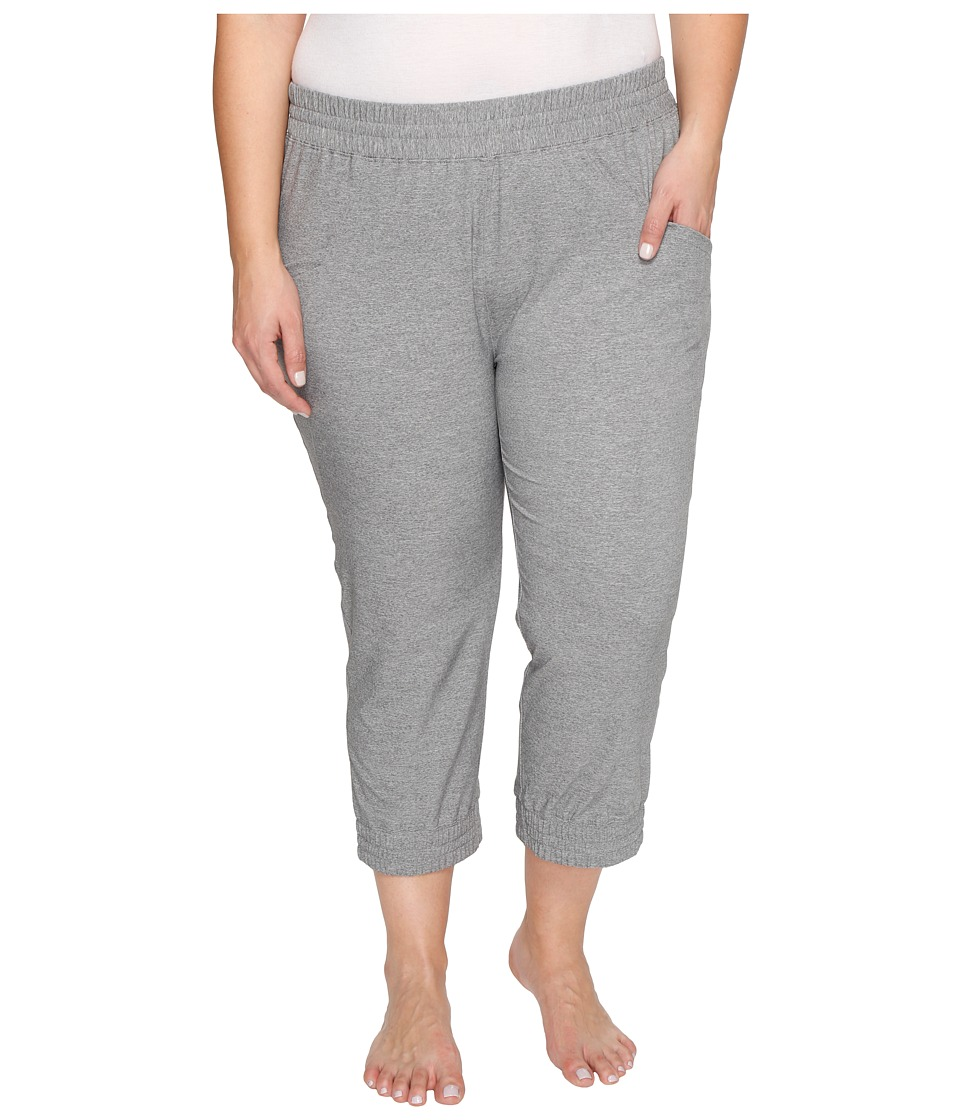 Soybu Plus Size Skim Capris (Grey Heather) Women