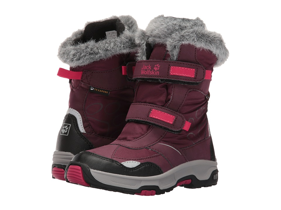 Jack Wolfskin Kids - Snow Flake Waterproof (Toddler/Little Kid/Big Kid) (Dark Berry) Girls Shoes