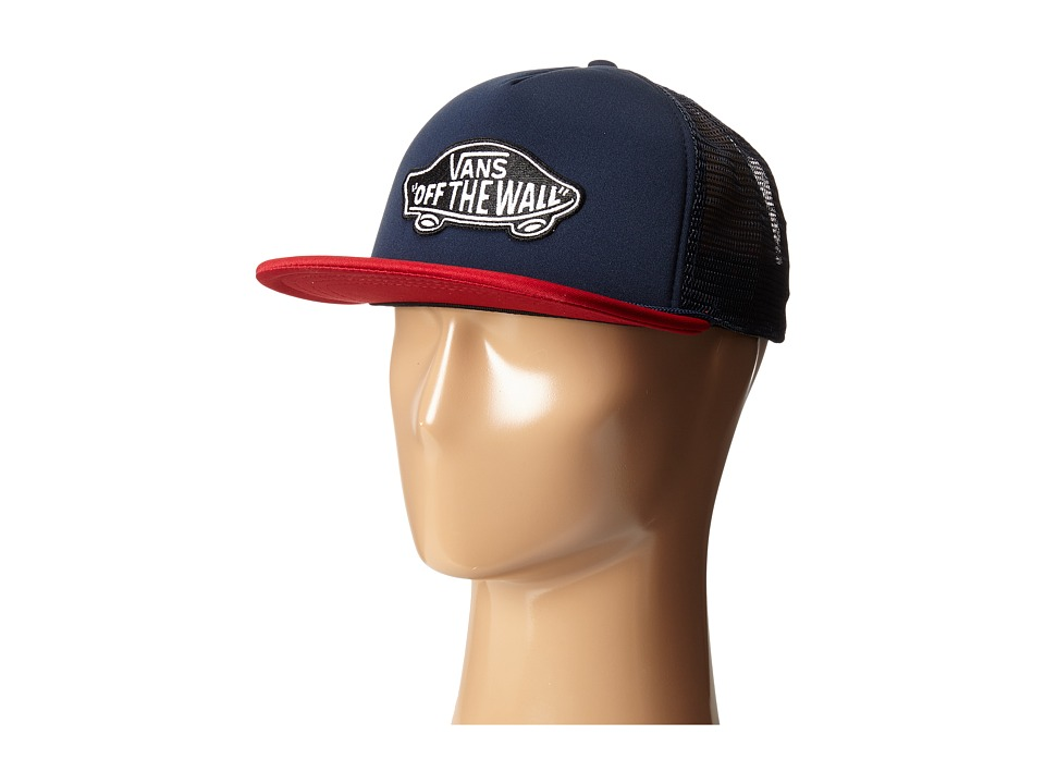 Vans - Classic Patch Trucker (Dress Blues/Red Dahlia) Caps
