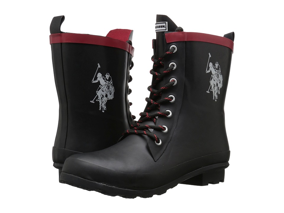 U.S. POLO ASSN. - Jacky (Black/White/Red) Women's Boots