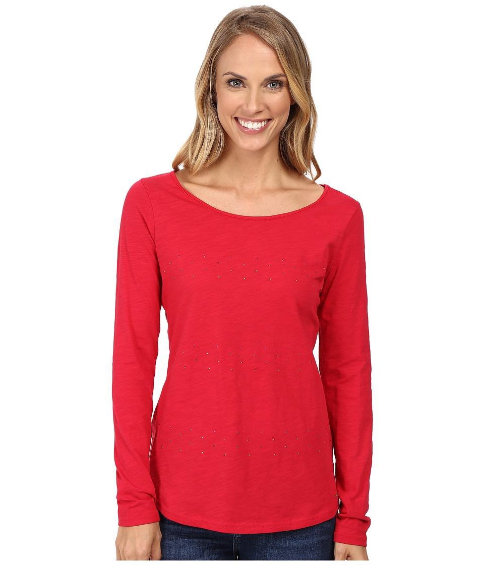 U.S. POLO ASSN. - Stone Slub Jersey T-Shirt (Crimson) Women's T Shirt